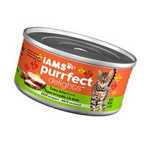 IAMS PURRFECT DELIGHTS Pate Adult Wet Cat Food, Turkey, 3 oz