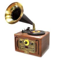Bluetooth Compatible Phonograph Vintage Turntable - Classic