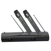 Pyle Pro Dual Channel VHF Professional Wireless Microphone