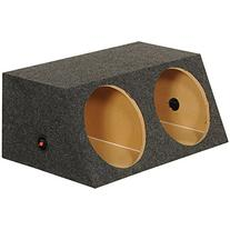 """QPOWER QSMBASS12 Dual 12"""" Inch Sealed Angled Subwoofer Sub"""