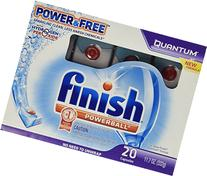 Finish Quantum Dishwasher Detergent, Power and Free 20 count