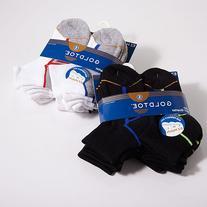 Boys  GOLDTOE 6 Pack Quarter Socks S, White/Multi