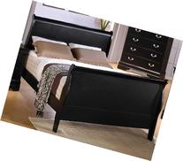 Coaster Queen Size Sleigh Bed Louis Philippe Style in Black