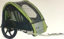 InStep Take 2 Double Bicycle Trailer, Green
