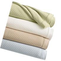 Martha Stewart Quilted Knit Cotton King Blanket, Green