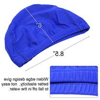QY 2Pack Superior Polyester Cloth Fabric Bathing Cap