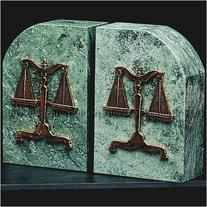 Bey-Berk R10L Scales of Justice Marble Bookends