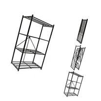 Origami R1407 Storage Rack 4 Tier Storage Shelf, Black