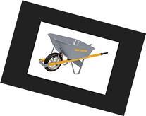 True Temper R6STSP25 6 Cu Ft Steel Wheelbarrow with Steel