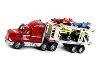 Race King Express Trailer Children's Kid's Friction Toy
