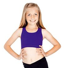 Girls Racerback Bra Top,TH5511CBLKI,Black,Intermediate
