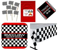 Racing Party Tableware Decorations Pack