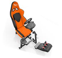 Openwheeler GEN2 Racing Wheel Stand Cockpit Orange on Black