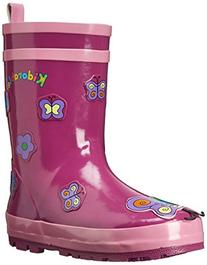Kidorable Butterfly Rain Boot , Purple, 6 M US Toddler