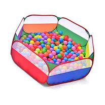 Aole-hw Rainbow Hexagon Pop up Ball Pit Pool with Mesh