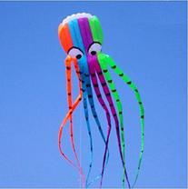 Beach Park Garden Outdoor Fun 7M Large Octopus Parafoil Kite with Handle /& String