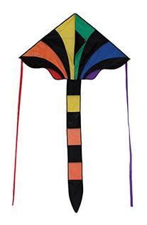 In The Breeze Rainbow Sparkler Fly Hi Delta Kite, 46-Inch