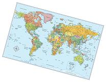 "Rand McNally Signature Map of the World 50""x32"