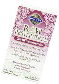 Garden of Life Heart Resveratrol Supplement - Raw Whole Food