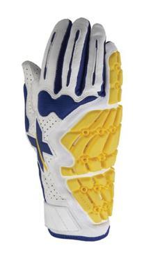 Xprotex Men's Raykr White/Royal Blue Batting Glove, Left,