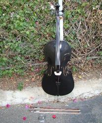 RUGERI RC120BK 3/4 SIZE BLACK CELLO WITH HARD CASE + FREE