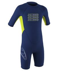 O'Neill Wetsuits Toddler 2 mm Reactor Spring Wetsuit, Navy/