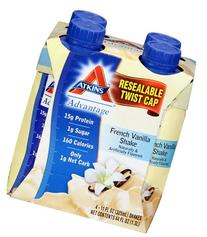 Atkins Ready To Drink Shake, French Vanilla, 11 Ounce, 12