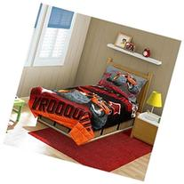 Blaze the Monster Machine Ready To Roll Toddler Bed Set, Red
