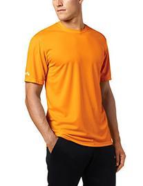 ASICS Men's Ready Set Short Sleeve Top, Shocking Orange,