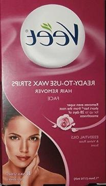 VEET Ready-To-Use-Wax-Strips Hair Remover Face 12 ea