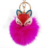 Leegoal Artificial Fox Fur Ball with Artificial Fox Head