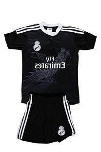 Real Madrid #10 James Kids Soccer Black  Jersey & Shorts All