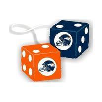NFL Denver Broncos Fuzzy Dice Auto Accessories 3 x 3in