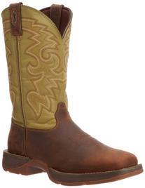Men's Durango 12 inch Rebel Pull - on Western Boots, CACTUS