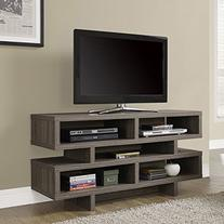 Monarch Specialties Reclaimed-Look Hollow Core Open-Concept TV Console
