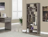 Reclaimed-Look Bookcase in Taupe