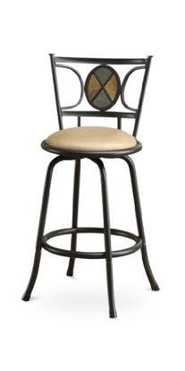 Poundex Rector Swivel Barstool with 24-Inch Height or 29-