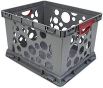 Storex Recycled Filing Crate with Comfort Handles, 17.25 x