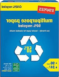 Staples 50% Recycled Multipurpose Paper Copy Fax Inkjet