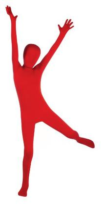 Child's Red Second Skin Body Suit, Large