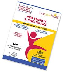 LLT Red Energy & Endurance Patch - Natural Energy - USA Made