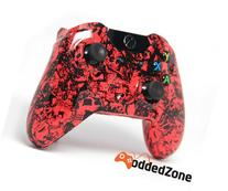 Red Grave Skulls Xbox One Rapid Fire Modded Controller 40