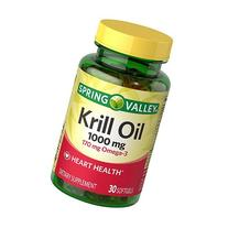 Spring Valley Red Krill Oil 1000mg, Omega3 170mg, Dietary