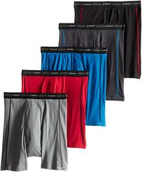 Hanes Men's 5-Pack Sports-Inspired Boxer Brief , Assorted,