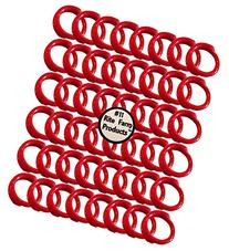 """48 PACK OF RED #11 LEG BANDS 11/16"""" CHICKEN POULTRY CHICK"""
