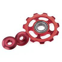 Red Metal Rear Derailleur 11T Guiding Wheel for MTB Mountain