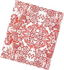 Red Paradise Lace Oilcloth