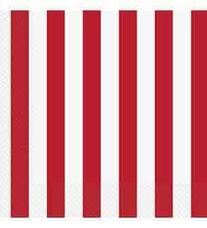 Red Striped Luncheon Napkins, 16pk