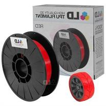 LD Red 1.75mm 0.5kg TPU Filament for 3D Printers