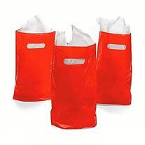 "8.75"" x 12"" Red Treat / Goody Bag"